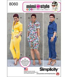 Simplicity Misses' Jumpsuits From Mimi G Style-16-18-20-22-24