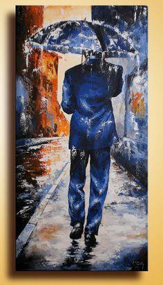 315 Original Painting on Canvas Figurativ Fine Art Ready by itarts