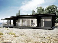 Sunhouse S380. Architect: Kalle Oikari. Scandinavian Architecture, Scandinavian Style, Cladding Ideas, Condo, House Plans, Garage Doors, New Homes, Cottage, Exterior