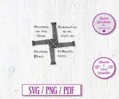 St Brigid's Cross Digital Download Decal by JumbleinkDesign on Etsy St Brigid Cross, Brigid's Cross, Irish Quotes, Irish Art, Ireland, Decals, Handmade Items, Digital, Words
