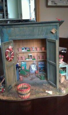 Dollhouse miniatures Garden Shed