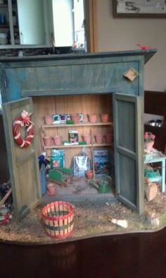Dollhouse miniatures Garden Shed