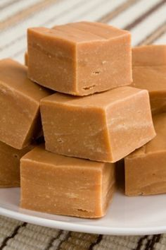 Peanut butter fudge made with cake frosting and peanut butter.