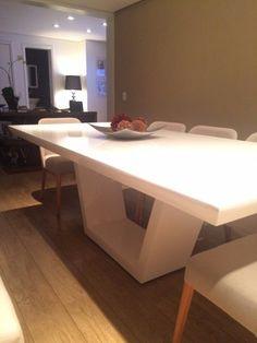 mesa de jantar branca 8 lugares brina medida 2.00 x 1.00