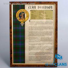 Davidson Clan Histor