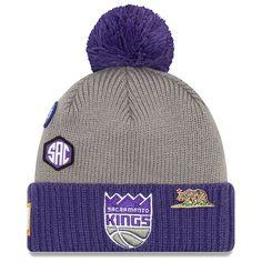 huge discount 78e08 04eaa Sacramento Kings New Era 2018 Draft Cuffed Knit Hat With Pom – Gray Cuffs,  Sacramento