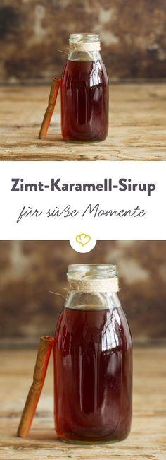 Eine dampfende Tasse Kaffee mit einem Schuss Zimt-Karamell-Sirup - einfach herrlich. Das Beste: Der Sirup lässt sich ruckzuck selbst zubereiten.