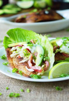 Low Carb Fish Tacos with Jalapeno-Lime Slaw