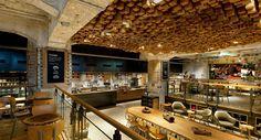 Starbucks concept store at Amsterdam, biggest Starbucks store of Europe.