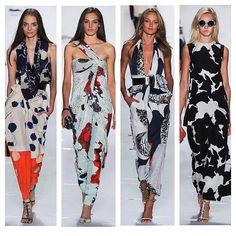 Gorgeous jumpsuits and dresses from @Diane Haan Lohmeyer von Furstenberg #DVF #NYFW