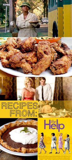 Recipes and movie food from The Help! Tips for throwing a great viewing party…