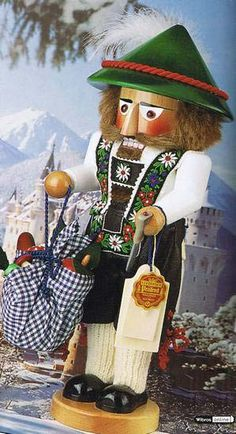 German Erzgebirge Nutcrackers Steinbach Nutrackers Tyrolean Nutcracker by Steinbach