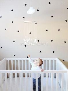 80pcs/set Triangle DIY Wall Decal Decorative Vinyl Mini Sticker – GetheBuzz