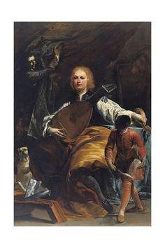Giclee Print: Portrait of Count Fulvio Grati by Giuseppe Maria Crespi : 24x16in