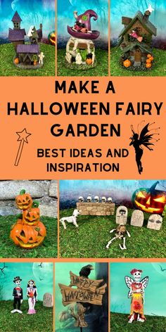 Halloween Fairy Garden Ideen & Inspiration / Werden Sie kreativ in diesem Jahr, . - Halloween Fairy Garden Ideen & Inspiration / Werden Sie kreativ in diesem Jahr, Inside & Out / Best - Jardin Zen Miniature, Miniature Fairy Gardens, Fantasy Garden, Icon Set, Halloween Fairy, Autumn Fairy, Diy Halloween Decorations, Halloween Ideas, Fairy Garden Supplies