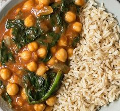 #vegan #glutenfree #chickpeas  Cooking with Barry & Meta: Quick Curried Chickpeas with Spinach – Vegan & Glu...