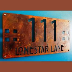 CUSTOM Mission Style Deluxe Address Sign in Rusted Steel on Etsy, $119.00