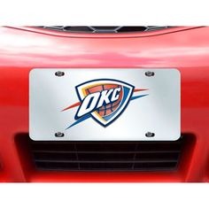 Oklahoma City Thunder License Plate Inlaid