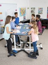 kinesthetic learning desks for classrooms- pedal desks, standing desks, elementary students flexible seating for adhd students and fidgety classrooms - teachers