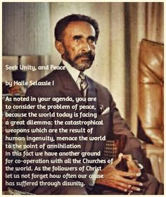 haile selassie quotes - Google Search