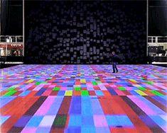 miguel chevalier unravels interactive, kaleidoscopic carpet in milton keynes