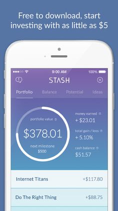 Stash Invest: Start investing your money, $5 at a time. by Stash