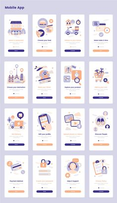 Landing Illustration Pack — UI Place Landing Illustration Pack is a pack of 16 beautiful illustrations that will help you illustrate your great ideas in website, mobile app application, or presentation. Web And App Design, Ios App Design, Mobile App Design, Flat Web Design, Design Websites, Dashboard Design, Design Android, Mobile Application Design, Web Design Quotes