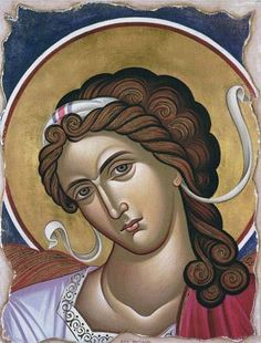 the archangel Raphael Religious Images, Religious Icons, Religious Art, Byzantine Icons, Byzantine Art, Art Icon, Guardian Angels, Orthodox Icons, Angel Art