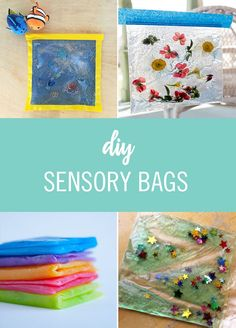 These sensory bag DIYs are a great way to enhance your baby's sense of touch with fun colors and designs.