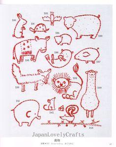 Small & Kawaii Embroidery Pattern 500 by JapanLovelyCrafts