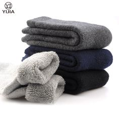 New Winter Men's Super Thick Cashmere Wool Socks High Quality Classic Business Brand Man Socks Men's Socks Thick Winter