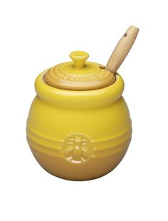 Le Creuset Honey Pot with Silicone Honey Dipper - Soleil