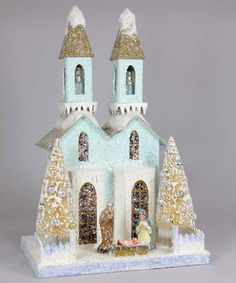 Cody Foster Christmas House - Winter Cathedral with Nativity