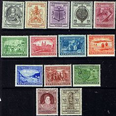 Newfoundland 1933 Sir Humphrey Gilbert Set Fine Mint SG 236/49 Scott 212/25 Other North American and British Commonwealth Stamps HERE!