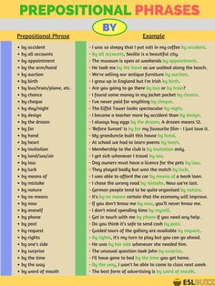 Prepositional Phrases with AT, BY & FOR – ESL Buzz