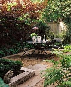 garden patio -- planters...