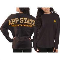 Appalachian State Mountaineers Women's Gray Aztec Sweeper Long Sleeve Top