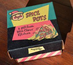 Santa's Village Spice Pots packaging | Flickr - Photo Sharing!