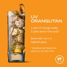UV Vodka Recipe: UV Orangutan