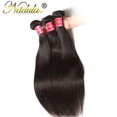 Brésilienne Vierge Cheveux Raides 3 Bundles/Lot Non Transformés Brésiliens Cheveux Weave Bundles 100% de Cheveux Humains Brésiliens Cheveux Raides