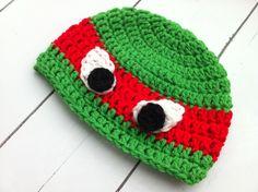 GREAT eyes! tmnt crochet hat