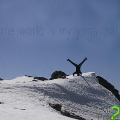 The world is my yoga mat.   Follow your Path2Prana.