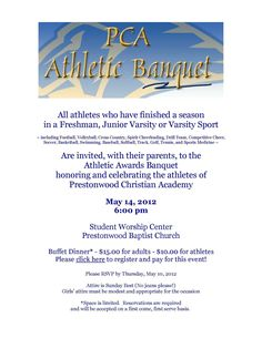 High school sports banquet invitations road trip pinterest sportsbanquetinvitationtemplatesuccess stopboris Image collections