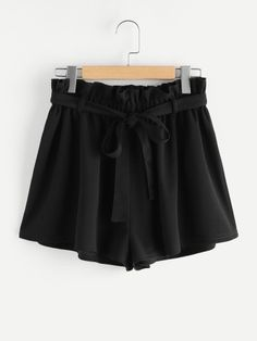 Shop Frill Waist Self Belted Shorts online. SheIn offers Frill Waist Self Belted Shorts & more to fit your fashionable needs. Trendy Outfits, Summer Outfits, Cute Outfits, Fashion Outfits, Frill Shorts, Belted Shorts, Short Skirts, Short Dresses, Paper Bag Shorts