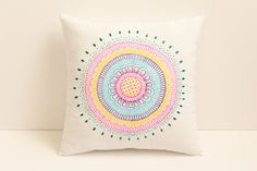 Henna Art Cushion/Pillow,Holiday Gift,Decorative Cushion,Spring Decor,Throw Pillow/cushion,Handpainted Cushion ,Mandala,Bohemian,Home Decor By Lavender Henna $49.99 #etsy #etsyusa #lavenderhenna #henna #hennaart #handmade #holidaygift