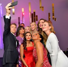 """leamichele-news: """"""""Derek Hough, Lea Michele, Nina Dobrev, Julianne Hough, Sophia Bush, Leighton Meester, and Renee Elise Goldsberry attend the 2017 InStyle and Warner Bros. Golden Globe Awards Post-Party (January 8, 2017) """" """""""