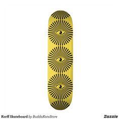 Korff Skateboard - Supreme Hard-Rock Maple Deck Custom Boards By Talented Fashion & Graphic Designers - #skating #skater #skateboarding #shopping #bargain #sale #stylish #cool #graphicdesign #trendy #design #designer #graphicdesigner #style