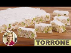 Recipe Details : Torrone (Italian Nougat) by Fine Living EMEA Meringue, Asian Food Channel, Osvaldo Gross, Turon, How To Cook Asparagus, Italian Desserts, Christmas Sweets, Recipe Details, Learn To Cook
