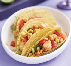 Cajun fish tacos with corn salsa | Australian Healthy Food Guide