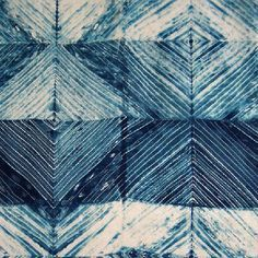 how to shibori carved block resist dyeing - Google Search